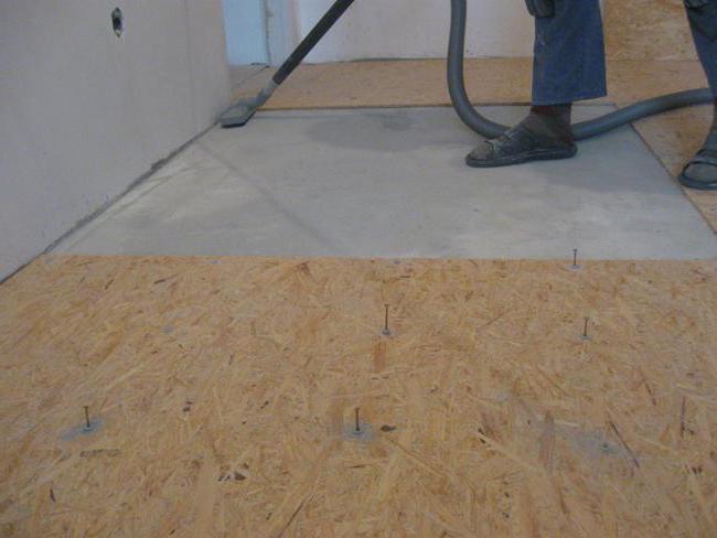 Pavimento osb osb si imbarca sul pavimento messo su pannelli a fiocchi immagine pavimento in - Pannelli osb per esterno ...