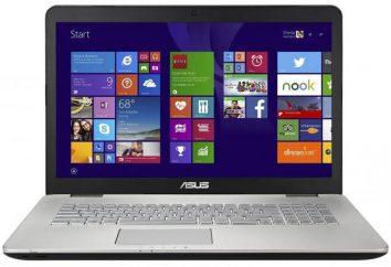 Laptop ASUS N551JM: charakterystyka modelu i przeglądu