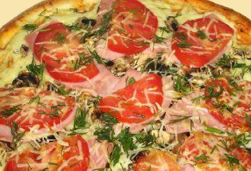 Una receta especial de pizza con queso y salchichas