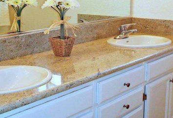 bancadas impermeáveis para cozinha e banheiro. As bancadas de pedra