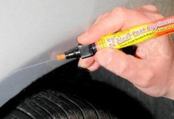 Crayon pour les rayures d'une voiture – caractéristiques et description