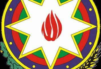 bandera de Azerbaiyán y el escudo de armas