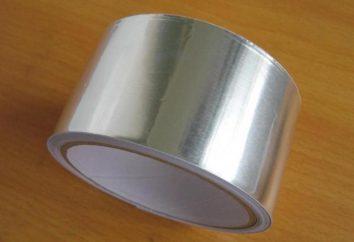 Cinta adhesiva de aluminio: el uso y las características de