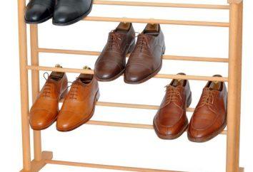 mobilier élégant couloir: des étagères pour les chaussures