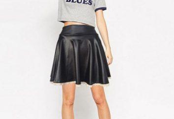 Pelle-skirt sole: cosa indossare, foto