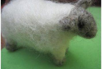 Felting: owce wykonane z wełny. Baranek do prania na sucho: klasa wzorcowa
