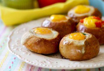 Huevo en un bollo en el horno: rápida, sabrosa y bien