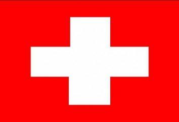 Svizzera bandiera e altri simboli di stato del paese
