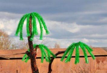 Palma z plastikowej butelki z rękami wykonana szybko i łatwo