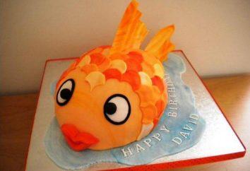 """Pastel """"peces de colores"""": Receta, registro"""