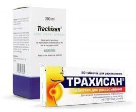 """Instrukcje """"Trachisan""""opinie o tabletkach""""Trachisan« skład leku»Trachisan"""""""