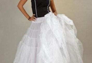 La enagua para los vestidos de novia. sus puntos de vista