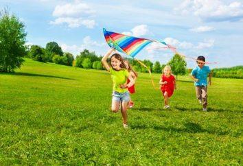 Planejar um atividades de recreação de verão na pré-escola. jardim de infância