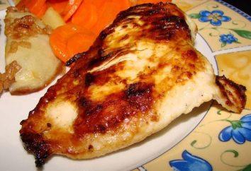 poulet mariné. Recettes de volaille d'origine