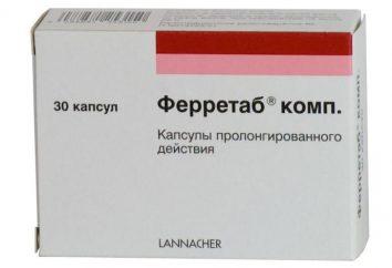 """Lek """"Ferretab"""": instrukcje użytkowania, prawdziwe odpowiedniki. Jak wziąć """"Ferretab""""?"""