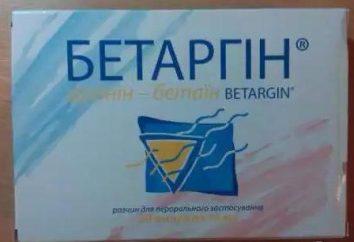 "Das Medikament ""Betargin"": Gebrauchsanweisung, real"