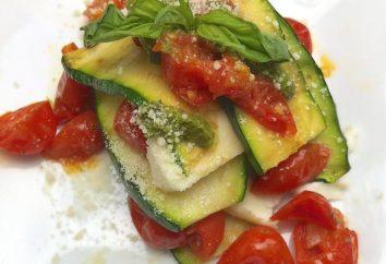 Cozinhar os tomates com abobrinha e queijo