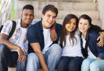 Amerykańskich nastolatków: psychologia i ciekawostki