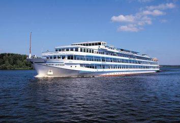 """Navire « Mikhail Bulgakov ». Le bateau fluvial à quatre passagers. """"Mosturflot"""""""
