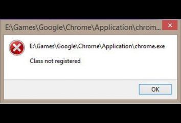 """Erro Google Chrome «Classe não registrada"""": os métodos mais simples de correção"""