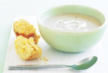 Cucina deliziosa e aromatico Crema zuppa di cavolfiore