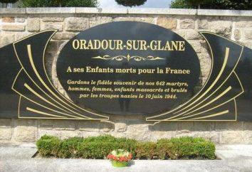 Die blutige Tragödie des Dorfes Oradour-sur-Glane (Frankreich)