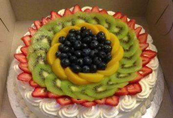 Jak urządzić tort z truskawkami i kiwi pięknie (zdjęcie)