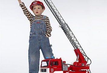 """Brinquedo da empresa """"Bruder"""". Carro de bombeiros: pontos de vista, opiniões, preço"""