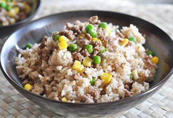 Riz à la viande hachée dans multivarka: recettes
