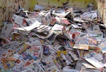 Los residuos de papel – ¿qué es esto? Dónde pasar la basura?