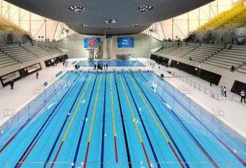 piscine olympique. Et il est tout autour de lui