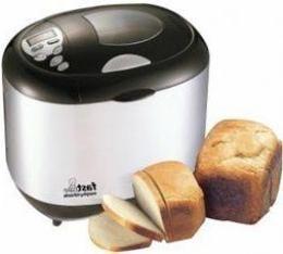 pão sem fermento, cozido na máquina de fazer pão
