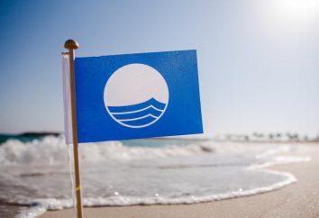 Was meinen Sie mit der Blauen Flagge am Strand?