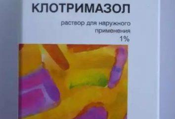 solution « clotrimazole » de mycose des ongles: commentaires, mode d'emploi et de la composition