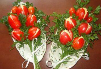 Salade « Tulipes » pour la table de vacances