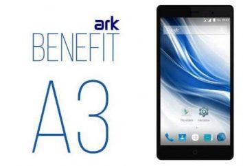 Smartphone ARK Benefit A3: opiniones, descripciones, datos técnicos y comentarios
