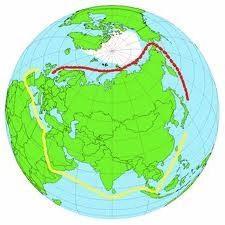 La Route de la mer du Nord. Ports de la Mer du Nord. Route Développement de la valeur et le développement de la Route maritime du Nord