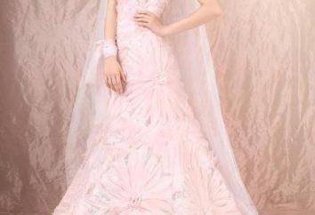 Różowa suknia ślubna: romantyczne, akcentowane przez kolor