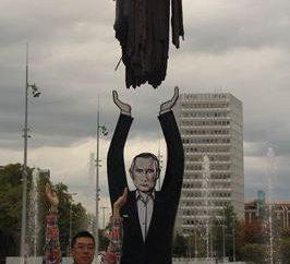 Un monumento a Putin a Ginevra come un combattente per la pace