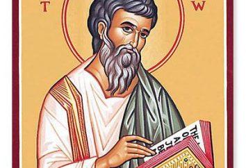 Apostoł Mateusz. Żywot Mateusza Ewangelisty i Apostoła