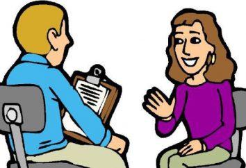 Qual é a entrevista? entrevistando