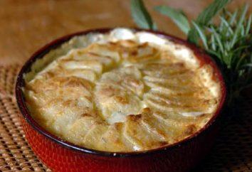 A batatas em camadas para todas as ocasiões: três variantes da preparação