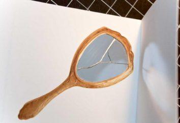 Sie ging von einem Aberglauben, dass ein zerbrochener Spiegel – leider?