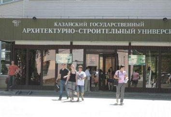 Kazan Architektura i Budownictwo University, stan uniwersytet: historia, wydziały edukacji