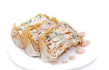 Todas as receitas pita existentes recheado. Pão de Pita com queijo e ervas. Pão de Pita com peixes e queijo