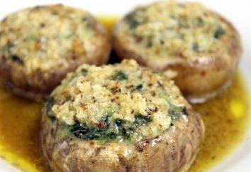 Wie Pilzsuppe und die gefüllten Pilze in multivarka kochen