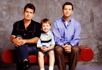 """""""Duas pessoas e meia"""": papéis, atores. """"Duas pessoas e meia"""": sitok americano 2003-2015."""