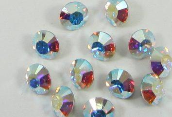 Produkte der Firma Swarovski Stein für High-End-Verzierungen