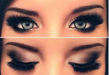maquillage du soir pour les yeux gris dans les étapes (photo)