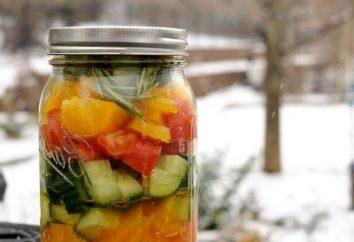 Cuisson courge salade pour l'hiver. recette